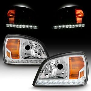 2000 2005 Cadillac Deville Led Drl Strip Replacement Headlight Left right Pair