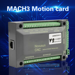 Nvem Cnc Controller 6axis Mach3 Ethernet Interface Motion Control Card Board
