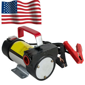 Electric Fuel Transfer Pump Portable Diesel Kerosene Fuel Transfer Pump W hose