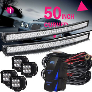 50 Curved Led Light Bar Roof Mounting Kits For Silverado 1500 2500 3500 Pickup