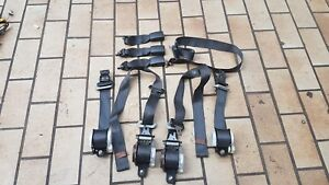 Set Front Back Black Seat Belts Edm Oem Honda Civic Ej9 Ek3 Ek4 Ek9 96 00 Rare
