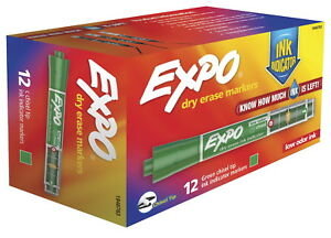 Expo Dry Erase Ink Indicator Markers Chisel Tip Green Pack Of 12