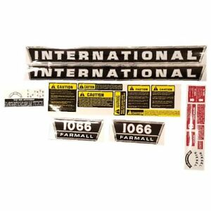 Decal Set For Case international Harvester 1066 Tractor