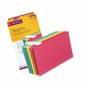 Smead Hanging File Folders 1 5 Tab 11 Point Stock Legal Assorted Colors