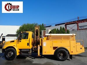 2007 International 4300 Dt466 Knuckle Boom Lift Crane Truck Diesel low Miles