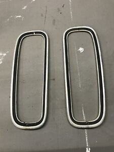 80 91 Ford Econoline Van Headlight Trim Bezels Rings Oem