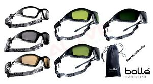 Bolle Tracker Ii Safety Glasses Goggles Spectacles Free Pouch Bag