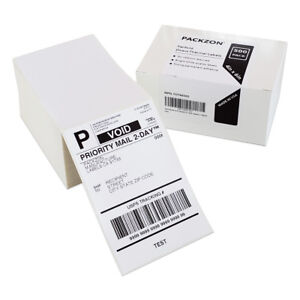 4000 4x6 Fanfold Direct Thermal Shipping Labels For Zebra And Rollo Printers
