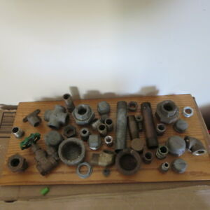 Lot Brass Pipe And Galvanized Ends Pipes Lot