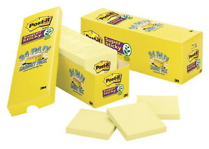 Post it Super Sticky Notes Cabinet Pack 3 X 3 In Canary Yellow Pad Of 90