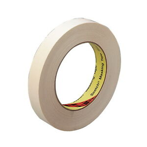 Scotch 232 High Performance Masking Tape 3 Inch Core 3 Inches X 60 Yards Tan
