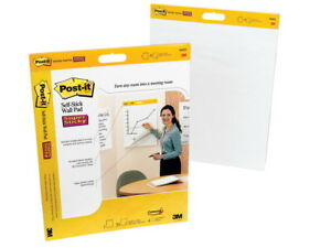Post it Self stick Easel Pad 20 X 23 Inches Unruled White 20 Sheets Pack Of