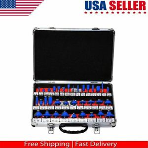 35pc Set Router Bit 1 4 Shank Tungsten Carbide Tip Router Bits Woodworking tool