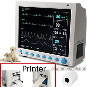 Vet Veterinary Pet Patient Monitor Ecg Spo2 Pr Nibp Temp Resp Printer Contec Usa