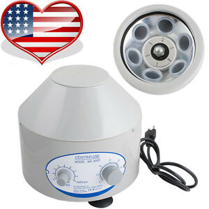 110v Electric Centrifuge Machine 4000rpm Lab Medical Practice 6x 20ml Rotor Us