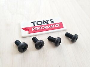 Replacement For Audi Luxury Auto License Plate 4 Screws Black Stainless Bolts