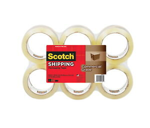 Scotch Commercial grade Shipping Tape Refill Pack Of 6 Clear