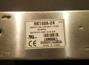 Lambda Hk150a 24 Power Supply 24vdc 6 5a
