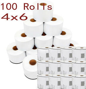 100 Rolls 4x6 Direct Thermal Shipping Mailing Address Blank Label For Zebra 2844