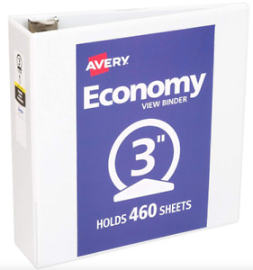 Avery Economy View Binder With 3 Round Ring White Case Of 12 05741