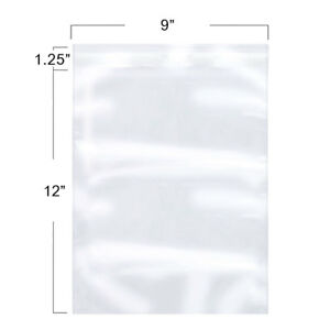9x12inch Clear Resealable Self Adhesive Cello Lip And Tape Poly Plastic Bags