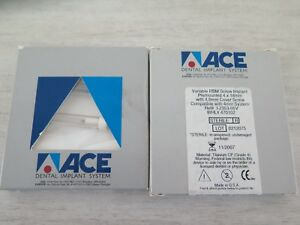 Ace Dental Implant System Variable Rbm Screw Implant Premounted 4 X 18mm W 4 0mm