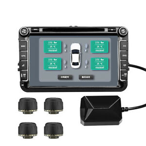 Usb Car Tpms Tire Pressure Monitor Alarm System android Navigation Tire A9e3
