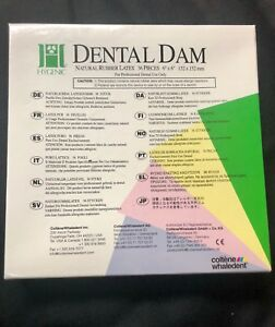 Coltene Hygenic Natural Rubber Latex Dental Dam 6x6 Medium Green 36 Pieces