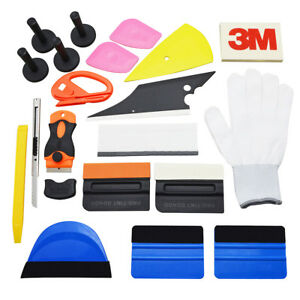 Pro Wrap Vinyl Tools Film Tinting 3m Squeegee Scraper Razor Glove For Car Window