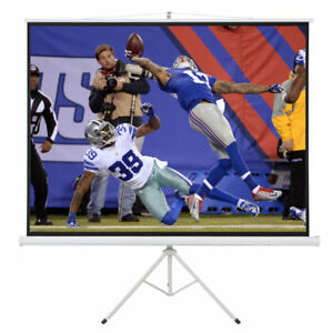 100 Portable Tripod Stand Projector 80x60 Projection Screen 4 3 Ratio White