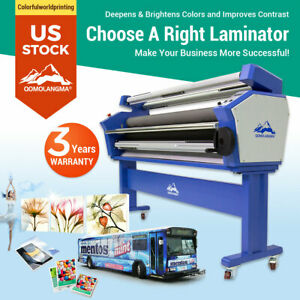 Usa 63 Full auto Roll Large Format Cold Laminator Machine Heat Assisted 110v