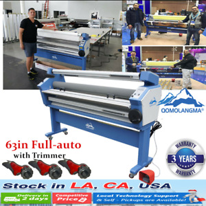 Usa 63 Full auto Roll Wide Large Format Cold Laminator Machine Heat Assisted