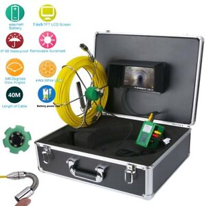 40m Ip68 Waterproof Drain Pipe Sewer Inspection Camera System 7 lcd 1000 Tvl Cam