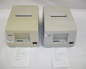 Lot Of 2 Epson Tm u325pd Pos Receipt Printer Model M133a 1