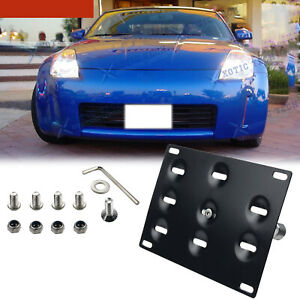 Front License Plate Bumper Mount Bracket Holder Kit For Nissan 350z 2005 2009