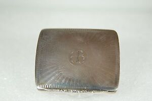 Solid Sterling Silver Vintage Antique Cigarette Business Card Pill Box