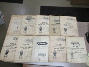 Lot Of 10 Vintage Collector Case Cultivator Row drill Planters Parts Catalogs