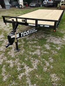 New 2019 84 x16 Atv Utility Deckover Trailer Haul Quad Motorcycle 4500 Gvwr