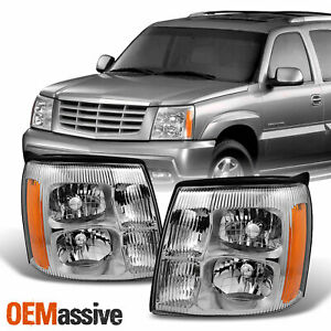 Fits 2002 Cadillac Escalade Halogen Type Headlights Lamps Light Replacement