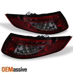 Fits 05 08 Porsche 911 997 Carrera 4 S 4s Red Smoked Full Led Tail Lights Lamps