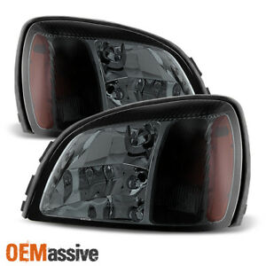 Fit 2000 2005 Cadillac Deville Smoked Replacement Headlights L r 2001 2002