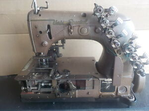 Industrial Sewing Machine Union Special 54 400 with Rear Puller Brown