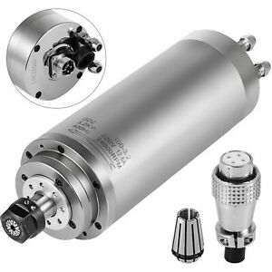 3kw Cnc Water Cooled Spindle Motor Er20 Bearing High Grind Milling Free Shipping
