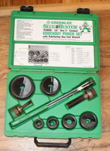 Greenlee 7238sb Slug buster Knockout Punch Set W Wrench Driver 1 2 2 Set