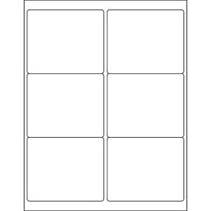 Box Partners Rectangle Laser Labels 4 X 3 1 3 Glossy White 600 case Ll203