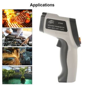 Infrared Temperature Thermometer Laser Non contact Ir Gun W Lcd Display Bi1055
