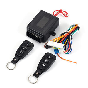 Car Remote Control Alarm Keyless Entry System Anti Theft Door Lock Universal
