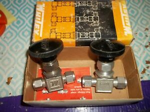 Lot Of 2 Whitey Integral Bonnet Needle Valve S 1vs6 wl63
