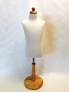 Single Body Dress Form Adjustable Height Children Mannequin Kids Size 6 8yrs Old