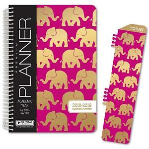 Hardcover Academic Year Planner 2018 2019 5 5 x8 Agenda Calendar W bookmark New